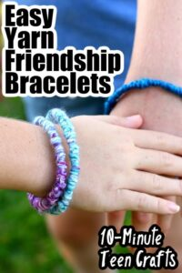 Yarn Friendship Bracelets with Pipe Cleaners