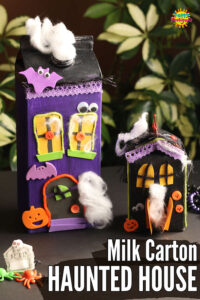 milk carton haunted house craft