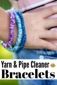 Yarn and Pipe Cleaner Friendship Bracelets