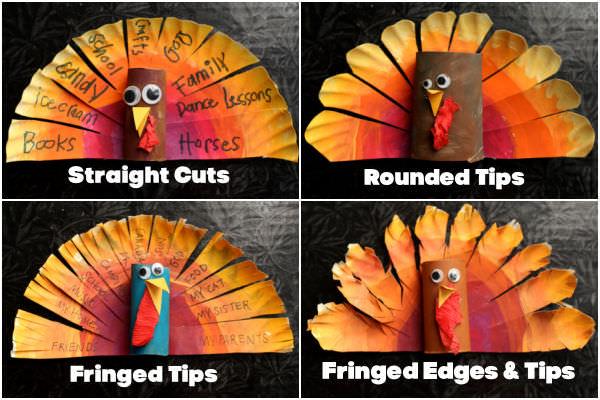 Collage 4 paper plate turkeys