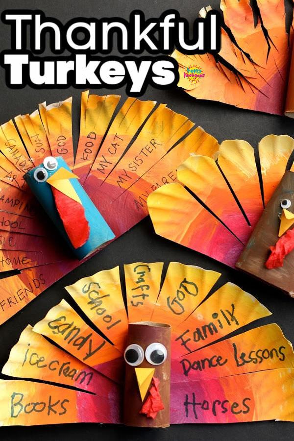 Paper Plate Thankful Turkey Craft 600x900