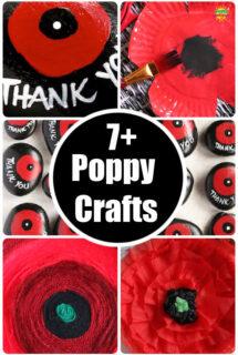 poppy collage for poppy crafts round up