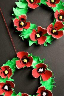 Poppy Wreath Kids Craft Feature Image