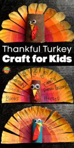 Thankful Turkeys Long Pin 3 vertical turkeys