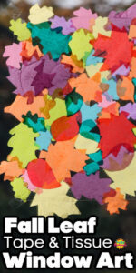 Tissue Paper Contact Paper Leaf Window Art Long Pin 2