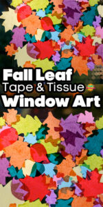 Tissue Paper Sticky Window Fall Leaf Long Pin