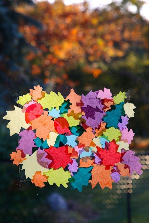 vertical tissue paper leaves sticky activity