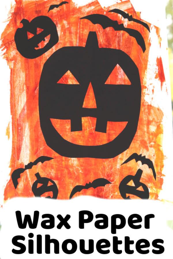 Wax Paper Silhouette Window Art for Halloween