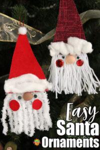 homemade santa christmas tree ornaments