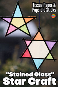 Tissue Paper Stained Glass Star Craft