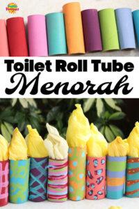 600w Toilet Roll Tube Menorah Craft