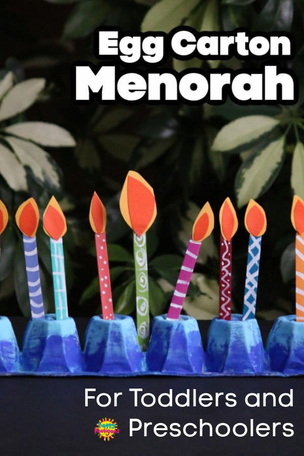 Egg Carton Menorah Craft for Toddlers and Preschoolers
