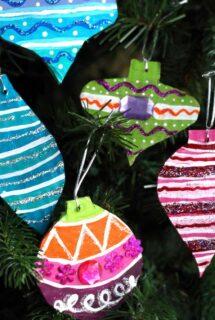 Recycled Cardboard Vintage Ornaments Craft