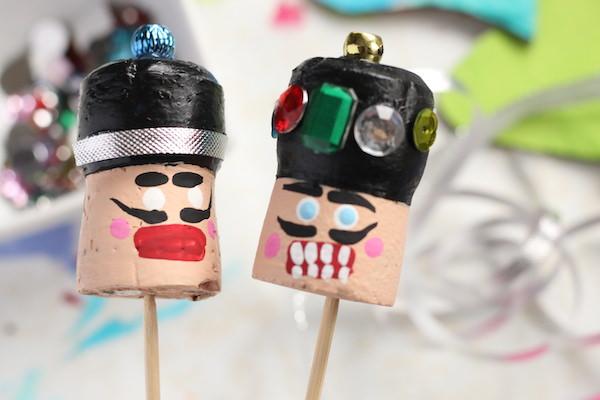 painting faces cork nutcrackers
