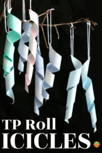 Toilet Paper Roll Icicle Craft