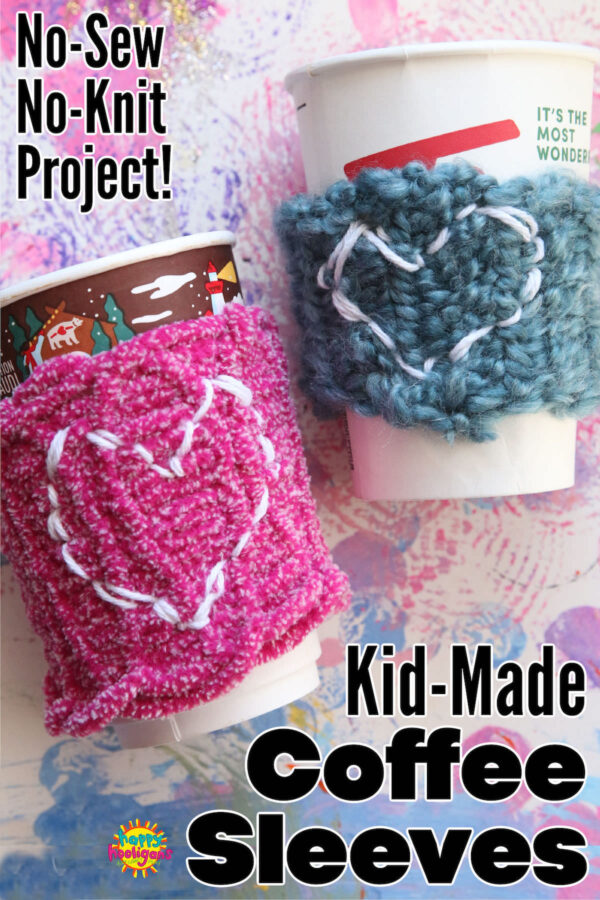 Homemade Coffee Cup Sleeves for Kids to Make