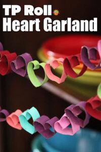 toilet paper roll heart garland
