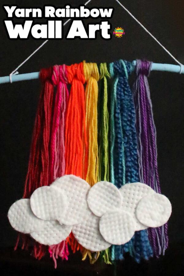 Yarn Rainbow Wall Hanging