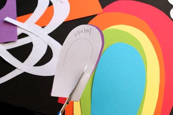 layered paper rainbow