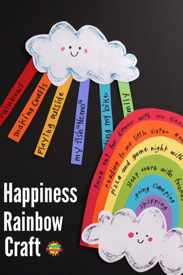 Construction Paper Rainbow Happiness Craft for Kids